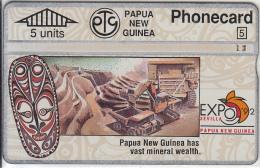 "PAPUA NEW GUINEA - Expo ""92 Sevilla/Mineral Wealth, CN : 306D, Tirage 20000, Used - Papua New Guinea"