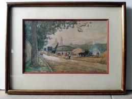 Jean LEFORT (1875-1954) - PARIS 1900 - Trocadero Et Quai D'Orsay - Gouaches