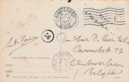"""Kaart Van Amsterdam 21.IX.14 Naar Antwerpen - Censuur """"Vérifié Par L'Autorité Militaire"""" ! - WW I"""