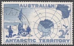 Australian Antarctic Territory. 1957 2/- Used. SG 1 - Australian Antarctic Territory (AAT)