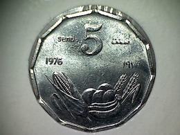 Somalia 5 Senti 1976 - Somalie