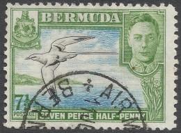 Bermuda. 1938-52 KGVI. 7½d Used. Black, Blue And Light Green. SG 114c - Bermuda