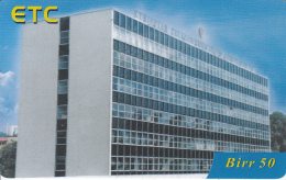 ETHIOPIA - Telecom Building, ETC Prepaid Card 50 Birr, Exp.date 01/10/12, Used