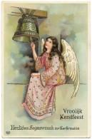 Vroolijk Kerstfeest Herzlichen Segenswunsch Zur Konfirmation - Angel Ringing Bell - EAS - Unused - Angels