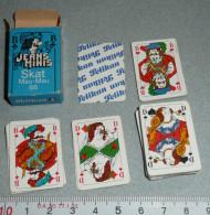 Rare Ancien Jeu De 32 Cartes Miniatures, Complet En Boite, Belgique Belgium PELIKAN, Jeans Minis Skat Mau-Mau 66 - 32 Cartes