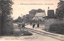 ¤¤  -  1   -  SAINT-JULIEN-de-VOUVANTES  -  Sortie De La Gare    -   ¤¤ - Saint Julien De Vouvantes