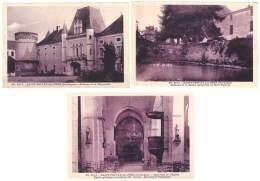 3 Cpa Saint Privat Des Près - Château De La Mothe, Meynardie, église - Autres Communes