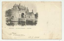 BRUGES LE PORTE D'OSTENDE 1900 VIAGGIATA  FP - Belgium