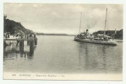 BAYONNE DEPART D'UN TORPILLEUR NV FP - Aquitaine