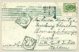 Finland - 1907 - 2K On Postcard From Helsinki To Indramajoe / Nederlands Indië  - Klederdrachten - Briefe U. Dokumente