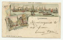LIVERPOOL ILLUSTRATED SEND 1900 SHAPED CM.12X7,5 - England