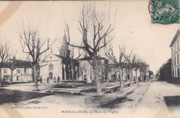 28p - 38 - Isère - Marcilloles - Place De L'Eglise - France