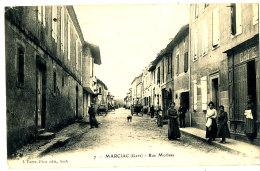 AB 25 / C P A - MARCIAC  (32)  RUE MORLAAS - Sonstige Gemeinden