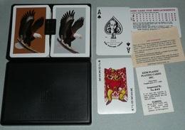 Rare Coffret De 2 Jeux De 54 Cartes Plastifiées KEM, En Boite Notice, Aigle Américain US, Joker As De Pique Ace Of Spade - Jeux De Société