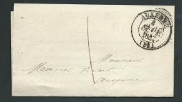 Lsc Du Tribunal De Commerce D'Auxerre Affranchie 1 Decime ( Port Local ) En 1843     - Pma5010 - 1801-1848: Precursors XIX