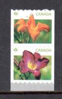 Canada Paire Roulette Daylilies Hémérocalles 2012 ** - Roulettes