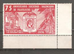 Viñeta Sociedad Valenciana De Filatelistas. - España