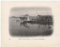 "Sainte Catherine  Nº 246 ""Le  Wharf De Florianopolis"" Lámina 11 X 14 Cm - Otros"