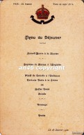 MENU´DE DEJEUNER-HOTEL METROPOLE-MONTE-CARLO-RESTAURANT-Le 28Janvier 1922-OTTIMA CONSERVAZIONE- - Menu