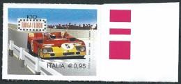 """Italia, Italy, Italie 2016; """"lo Sport"""": Targa Florio 100° Edizione. Francobollo Di Bordo Destro - Automobile"""