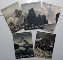 """5 Numeri Del 1935 """"LA MONTAGNE Revue Du Club Alpin Francais"""" _ ALPINISMO _ ETNA _ CERVINO _ FRATELLI SCHMID _ MONT-PERDU - Libri, Riviste, Fumetti"""