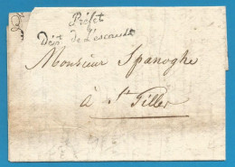 """France - Précurseur - LAC Vers Saint Gilles Non Datée - """"Préfet Dépt De L'escaut"""" En Noir - Marcophilie (Lettres)"""