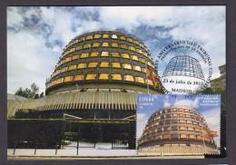 ESPAÑA 2015 TARJETA MAXIMA SEDE DEL TRIBUNAL CONSTITUCIONAL. ARQUITECTURA - Tarjetas Máxima