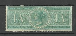 INDIA Revenue Tax Stamp 4 Annas Unused - Dienstzegels