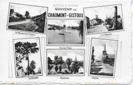CHAUMONT- GISTOUX. SOUVENIR. LA CHAUSSEE, L'EGLISE...CARTE MULTIVUES. - Chaumont-Gistoux