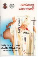 Visita Di SS Papa Giovanni Paolo II A Capo Verde - Isola Di Capo Verde