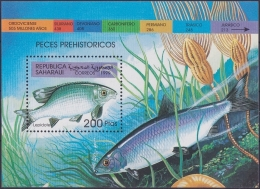 F-EX.2014 SAHARA MNH 1999 HF. PREHISTORIC FISH. PECES PREHISTORICOS. - Fantasy Labels