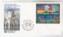 1997 UN  Stamps FDC SPECIAL Pmk UNCED SOMET,  Earth Summit Environment Weather United Nations - FDC