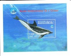 Madagascar MNH Scott #1425 Souvenir Sheet 7200fr Senalla Plagiodon - International Year Of The Ocean - Madagascar (1960-...)
