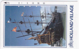 JAPON JAPAN Bateau Ship Boat 50 Holland Village TELECA  110-011  UT NTT - Bateaux
