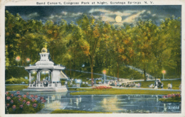US SARATOGA / Band Concert, Congress Park At Night / CARTE COULEUR - Saratoga Springs