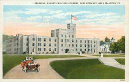 US STAUNTON / Barracks, Augusta Military Academy, Fort Defiance / CARTE COULEUR - Etats-Unis