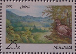 STAMPS MOLDOVA 1992 Codri Nature Reserve MNH - Moldova