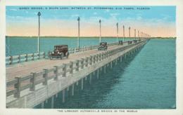USA SAINT PETERSBURGH / Gandy Bridge Between Saint Peterburgh And Tampa / CARTE COULEUR - St Petersburg