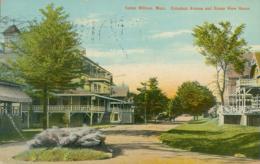 USA SALEM WILLOWS / Columbus Avenue And Ocean View House / CARTE COULEUR GLACEE - Etats-Unis