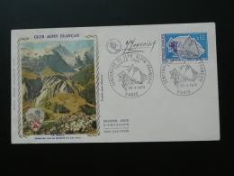 FDC Club Alpin Signée Du Graveur Monvoisin 1974 - Arrampicata