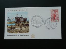 Lettre Cover Débarquement D-Day Lion Sur Mer Calvados 1984 - 2. Weltkrieg