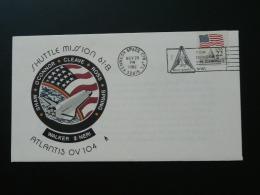 Lettre Cover Shuttle Mission Atlantis 104  - 1985 - FDC & Commemoratives