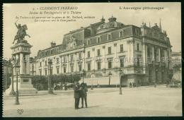 Clermont Ferrand GALLERIES DU THEATRE Statue De Vercingetorix Et Le Theatre Architecte M. TEILHARD Sculptures GOURGOUILL - Clermont Ferrand