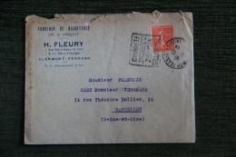 Enveloppe Publicitaire Timbrée Et Lettre,CLERMONT FERRAND, Fabrique De Bijouterie FLEURY, 4 Rue Port Notre Dame - Francia