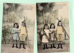 CPA - ENFANTS - La Pêche - Lot De 2 Cartes Postales - Pêche