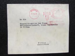 Brief Frankotype Postfreistempel PÖSSNECK GG Vogel 1929 /// S8404 - Deutschland