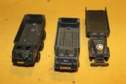 Trois Véhicules Militaires : GMC Superdinky Et Deux Berlier Aurochs Solido - Other