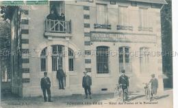 POUGUES-LES-EAUX Tres Animee Facteur Velo - Banque CAISSE NATIONAL D EPARGNE - Hôtel Des Postes Et Le Personnel 58 Nièvr - Pougues Les Eaux