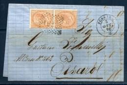 REGNO Storia Postale Lettera Viaggiata Per Pesaro - Storia Postale