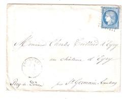 Lettre ESCUROLLES Allier , GC 1413 Sur CERES N° 60 , 4 Février 1873 , Bureau De PASSE > EYRY, Par St Germain Lembron, TB - 1849-1876: Période Classique